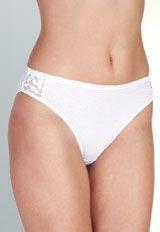 Dámské kalhotky 100% bavlna, Spoltex Míla, bílé