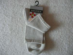 Ponožky Diabetes 2L - šedobéžová