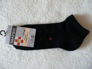 Ponožky Diabetes 1S kotníkové - černé
