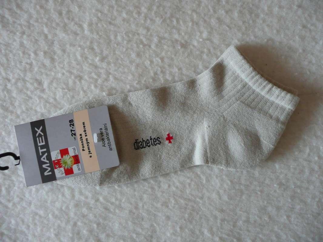 Ponožky Diabetes 1S kotníkové - šedobéžové
