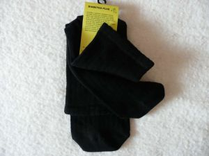 Ponožky Diabetes plus - černé