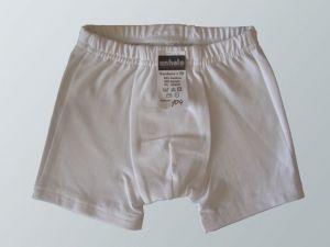 Chlapecké bílé boxerky Anhelo bambusové