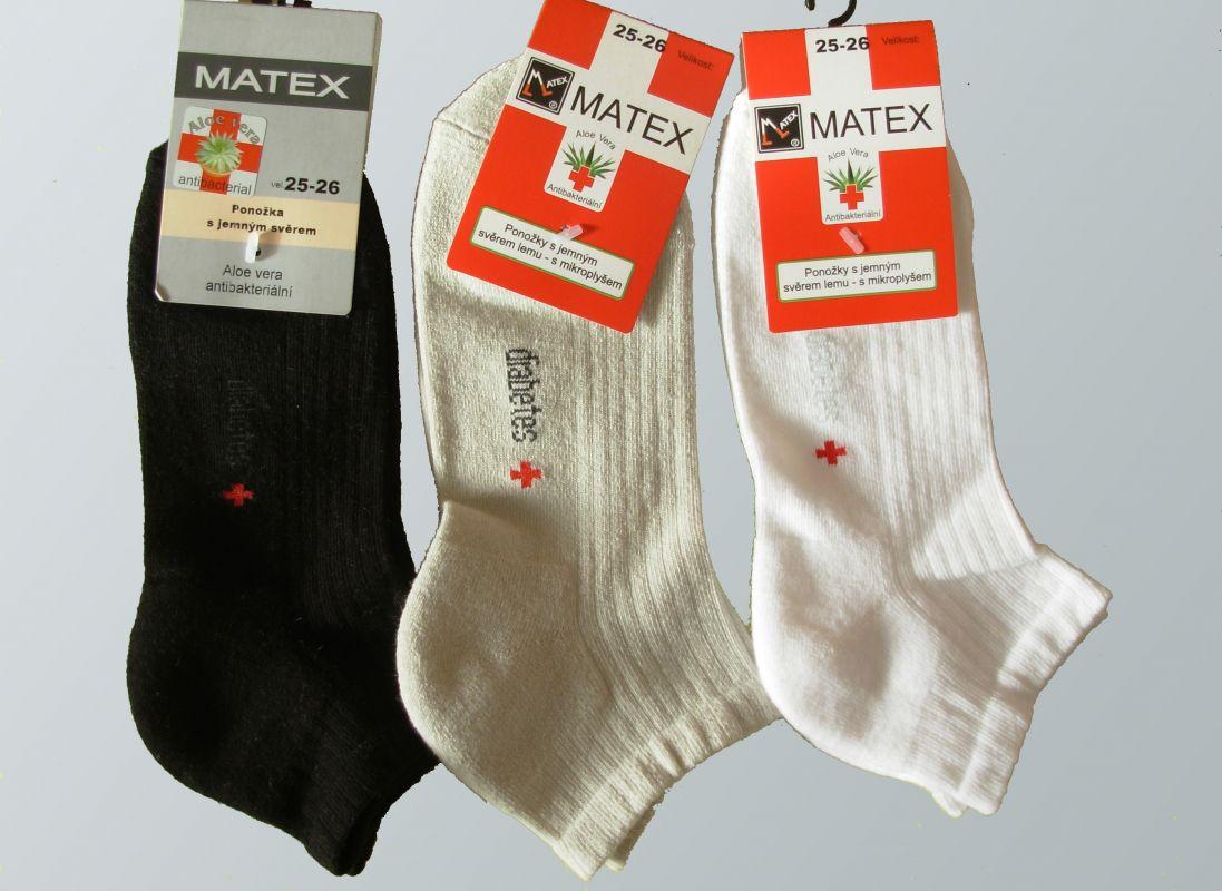 Kotníkové ponožky pro diabetiky Matex-Diabetes dr.390 7023934614