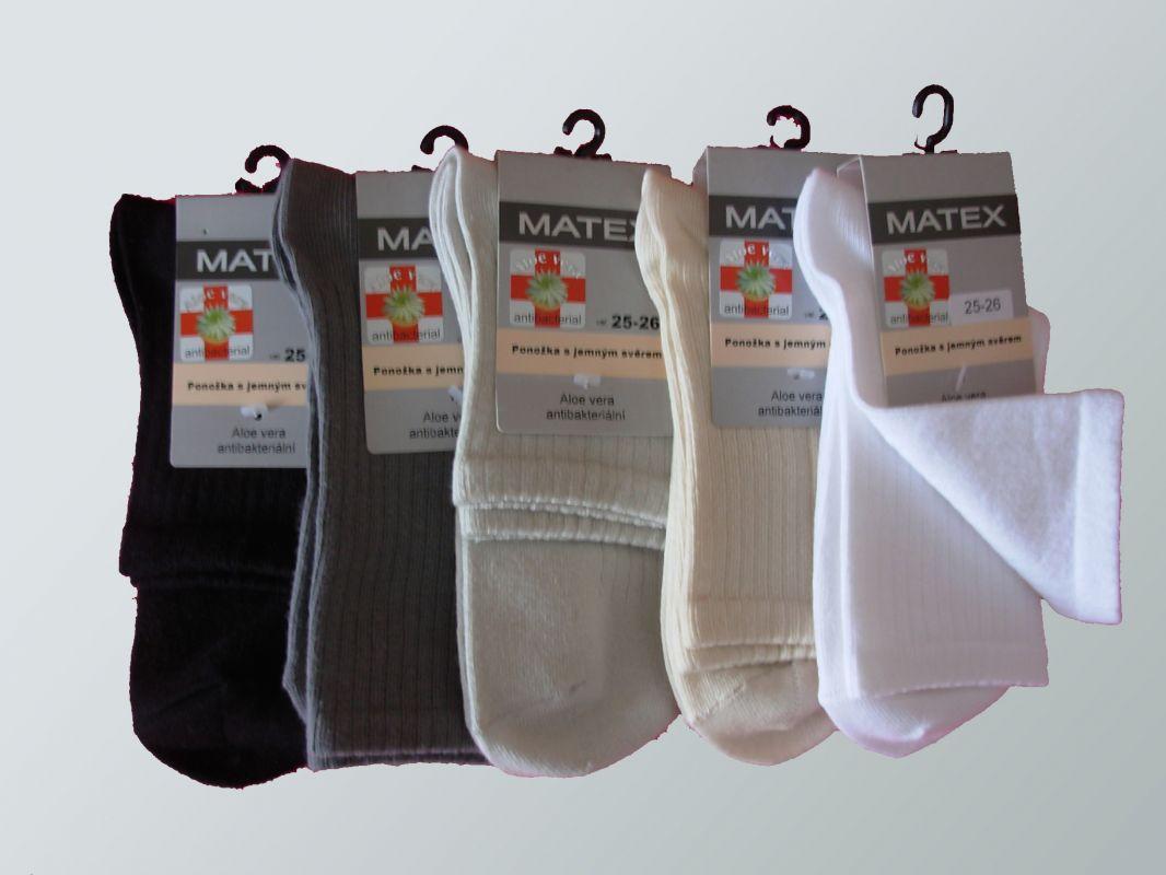 zdravitní ponožky MATEX Diabetes 1L - žebro