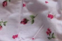 růžová s kvítky