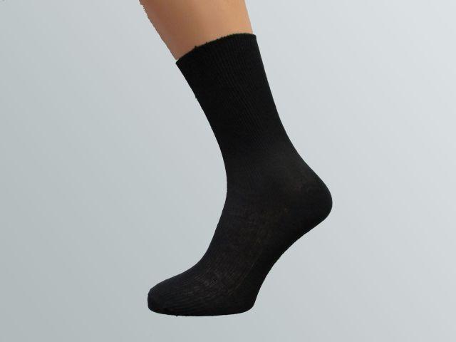 100% bavlněná ponožka, černá