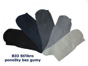 Antibakteriální ponožky bez gumy BIO Stříbro, vel. 27-28